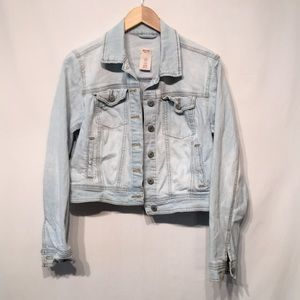Mossimo Cropped Jean Jacket Size XL